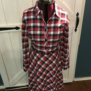 Size 24W Eloquii flannel knee length dress.